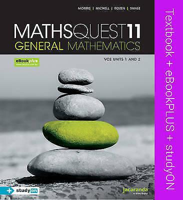 1 of 1 - Maths Quest 11 VCE General Mathematics & Ebookplus by Raymond Rozen, Steven Mor…