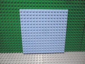 Lego 1 Bright Light Blue 16x16 base plate platform or 5 x 5 inch Square corners