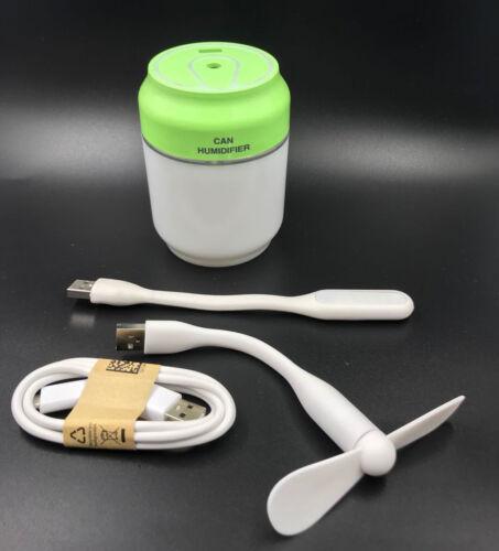3-in-1 Mini témoin ils Ventilateur de table Lampe Brouillard Lumière DEL USB Ventilateur