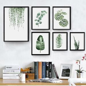 1X-Plante-Peinture-l-039-Huile-Tableau-Art-Moderne-Toile-Mural-Decoration-Salon-Neuf