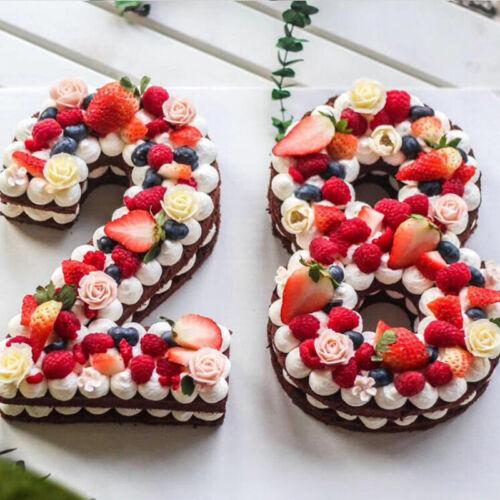 Moldes Para Pasteles De Cumpleaños Número Accesorios De Hornear Fondant 9 Piezas
