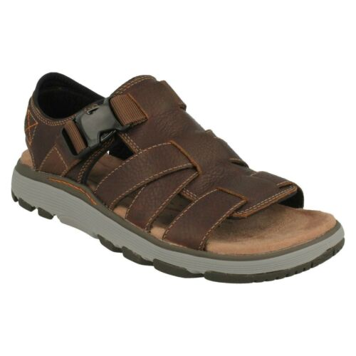 Clarks cordones Slingback Trek hombre sin de para Cove Tan Dark estructura cuero con Un Zapatos qwzUgq