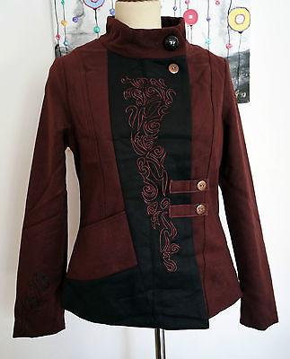 Jacke von Coline mit Stickereien im Bikerstil Bikerjacke S bis XL 36 bis 42
