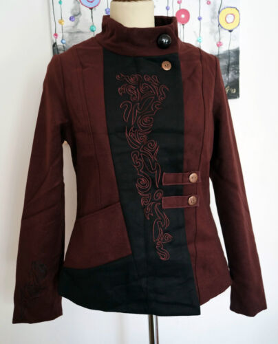 motociclista da S 42 Coline Giacca With Jacket In Style In 36 XL Embroidery Biker R816w8Fq