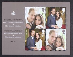 GR-BRITAIN-2011-MS3180-Wedding-Prince-William-amp-Kate-Mini-Sheet-S-S-Mint-NH