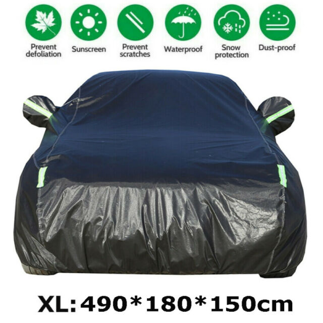 XL Large Waterproof Oxford fabric Outdoor Car Cover Thick Rain UV Resistant AU