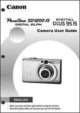 Canon Powershot SD1200 IS IXUS 95 IS  Digital Camera User Guide Manual