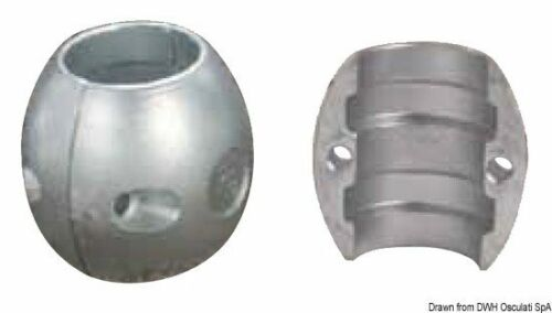 Bootsport Magnesiumanode Oliv Hinterachse mm 25 Marken Osculati 43.800.25