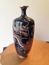 Japanese Cloisonne Vase with Dragon
