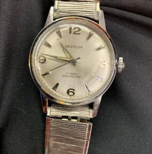 Vintage WESTCLOX 17 Jewels Shock Resistant Mens Mechanical Hand Wind Watch Parts