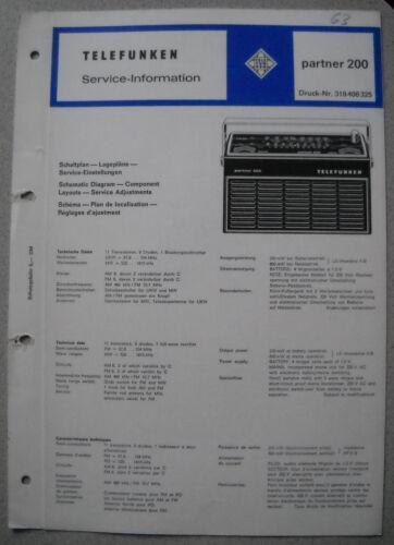 TELEFUNKEN Kofferradio partner 200 Service Manual