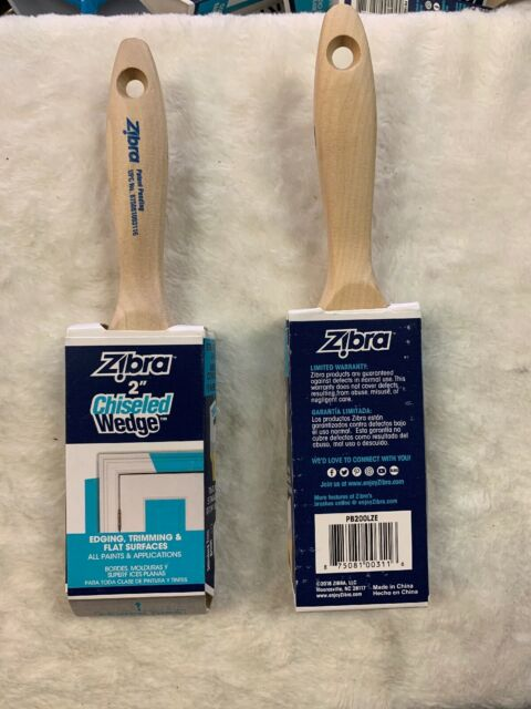 Zibra 2 Inch Chiseled Wedge Finishing Brush For Sale Online Ebay