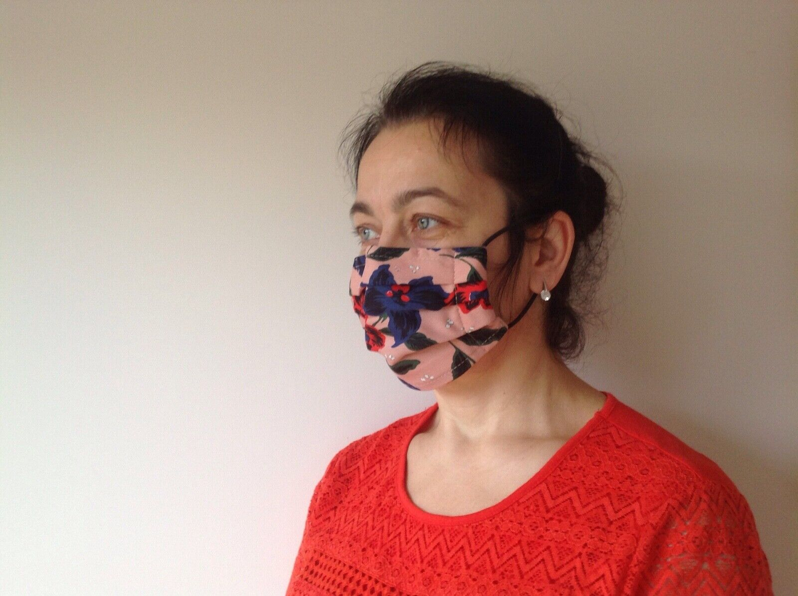 face mask protection fabric cotton homemade with filter pocket nose bridge