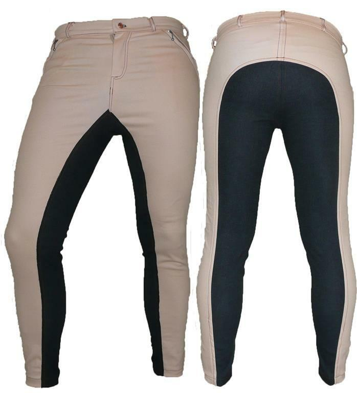 Braun Synthetic Leder Leder Synthetic Dressage Horse Riding Pants Full Seat Breeches breech GR 47693e
