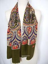 Oilily Schal NEU O-Rose in Olivgrün Ornament Muster für Jacke Mantel Damen scarf