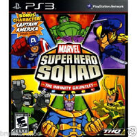 Marvel Super Hero Squad The Infinity Gauntlet W/ Bonus Captain America Ps3