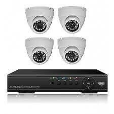 New 4 Channel cctv Dome security camera system kit at R1800 per kit