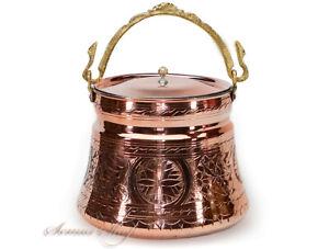 Orientalische-Handmade-Kupfer-Eimer-3-Liter-Bakir-Bakrac-yogurt-bakraci-3-L