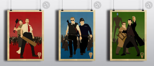 Minimalist Posters Shaun Dead Hot Fuzz WorldsEnd Posteritty CORNETTO TRILOGY
