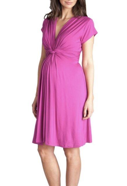 Seraphine Dress Maternity 8 Wrap Knot Pink Purple Fuchsia For Sale Online Ebay