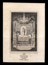 santino incisione1800 B.VERGINE MARIA DI MONTALLEGRO-RAPALLO