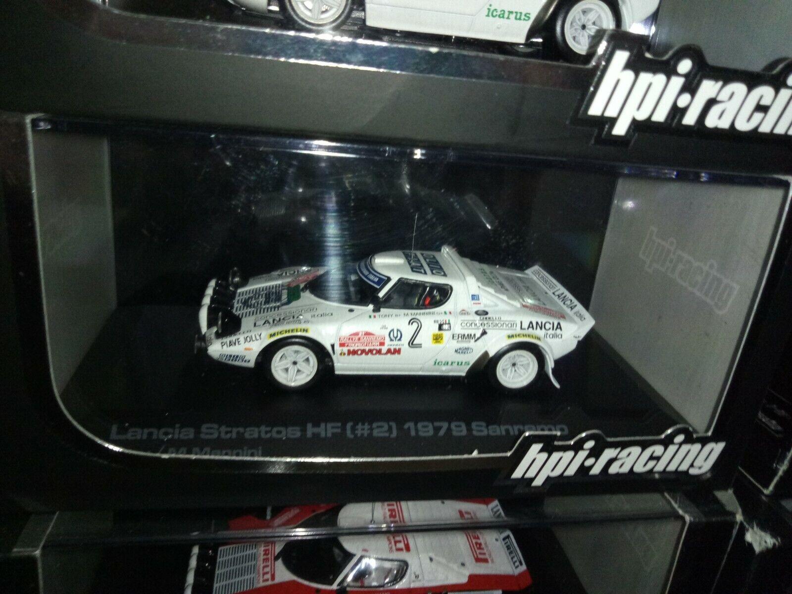 HPI 1 43 8070 Lancia Stratos HF TONY FASSINA Rally Sanremo 1979 - RARE