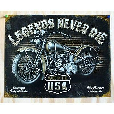 Legends - Never Die Tin Sign , 16x12 New