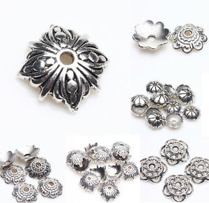 Wholesale-Tibet-Silver-Metal-Loose-Spacer-Bead-Flower-Caps-Jewelry-Finding-DIY