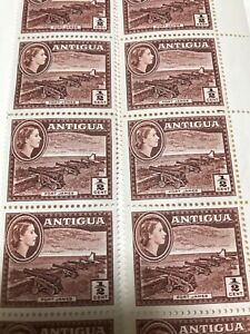 ANTIGUA-1965-FORT-JAMES-1-2c-Block-20-stamps-Unhinged