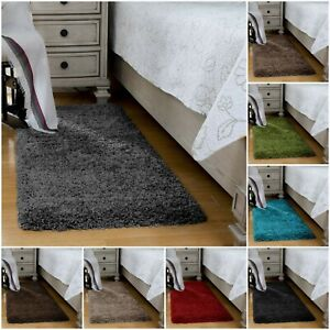 Fluffy Bed Side Shaggy Rugs Non Shed Small Rugs For Bedroom Living Room Kitchen Ebay