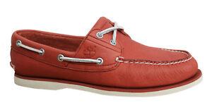 rojo barco Timberland cuero zapatos de A1bik D88 cordones 2 Classic hombre Eye Icon para de con ggxPRCF