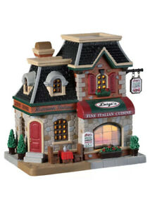 Lemax Luigi's Ristorante Italiano-Holiday Village -Train - Lighted Building