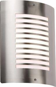 Knightsbridge Ip44 D'extérieur E27 Mur Luminaire Lampe En Acier Inoxydable Led Compatible-afficher Le Titre D'origine Ov0yphjy-10114715-938218499