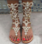 34-47-Women-Gladiator-Sandals-Rhinestone-Roman-Beach-Thong-Sandals-Boots-Shoes thumbnail 4