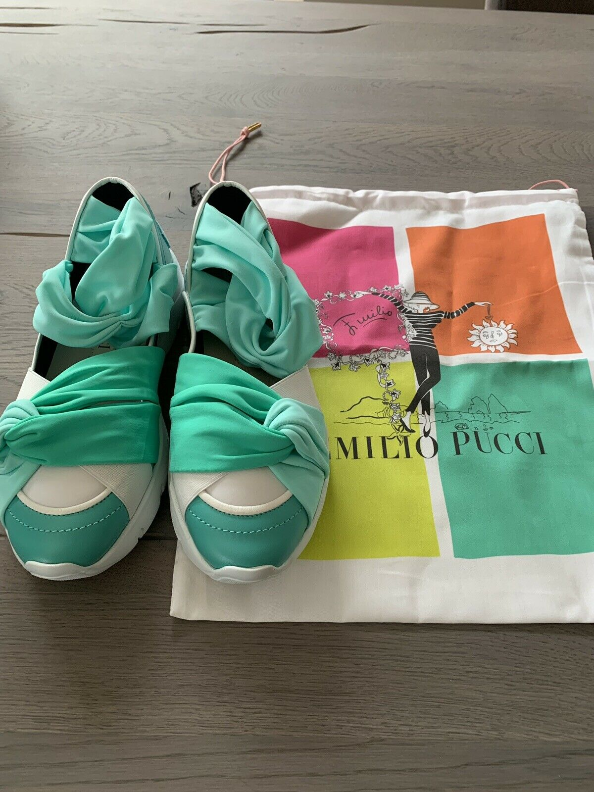 EMILIO PUCCI CITY UP RUFFLE TRAINERS SLIP-ON Turnschuhe schuhe TURNSCHUHE SCHUHE 40