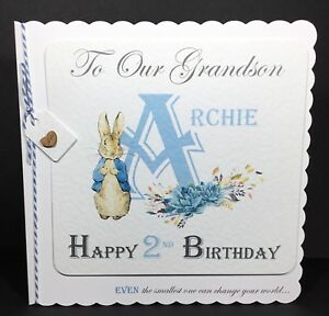Image Is Loading Handmade Personalised Birthday Card Peter Rabbit Son Daughter