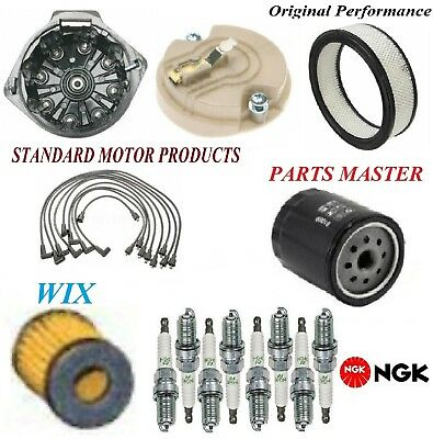 Tune Up Kit Filters Cap Spark Plugs Wire For CHEVROLET CORVETTE V8 5.7L 1974