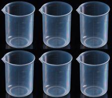 Plastic Graduated Beaker With Spout 250 Ml Set Of 6