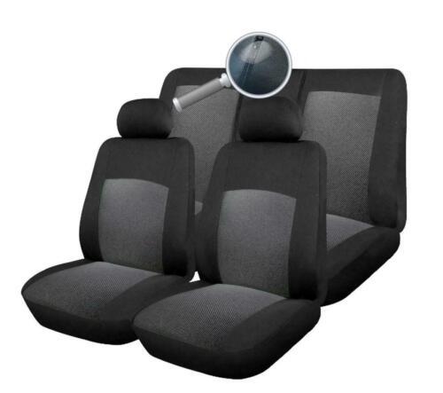 Tela Gris Completo cubiertas de asiento de coche juego de 9 piezas para Nissan Qashqai 2010 /> 5 asientos