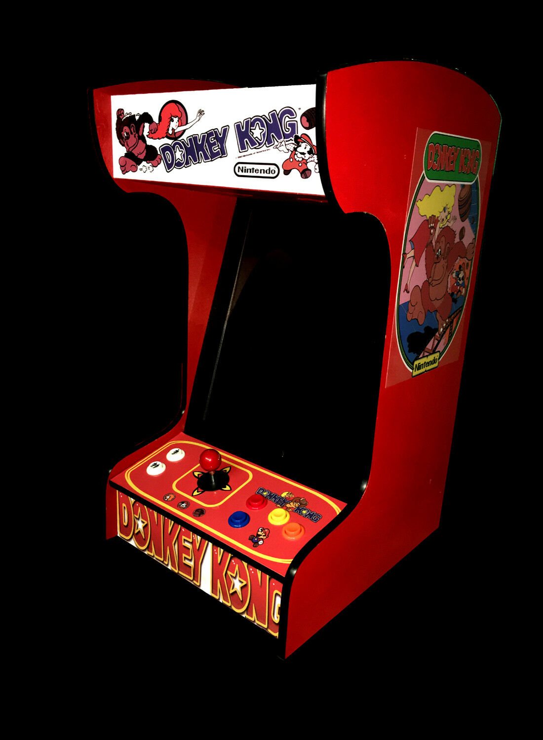 Ms Pac-Man Upright Bartop//Tabletop Cocktail Arcade Machine W// 412 Classic Games