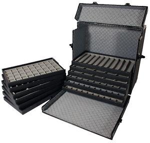 Aluminum Travel Case Jewelry Tray Organizer Trade Shows eBay
