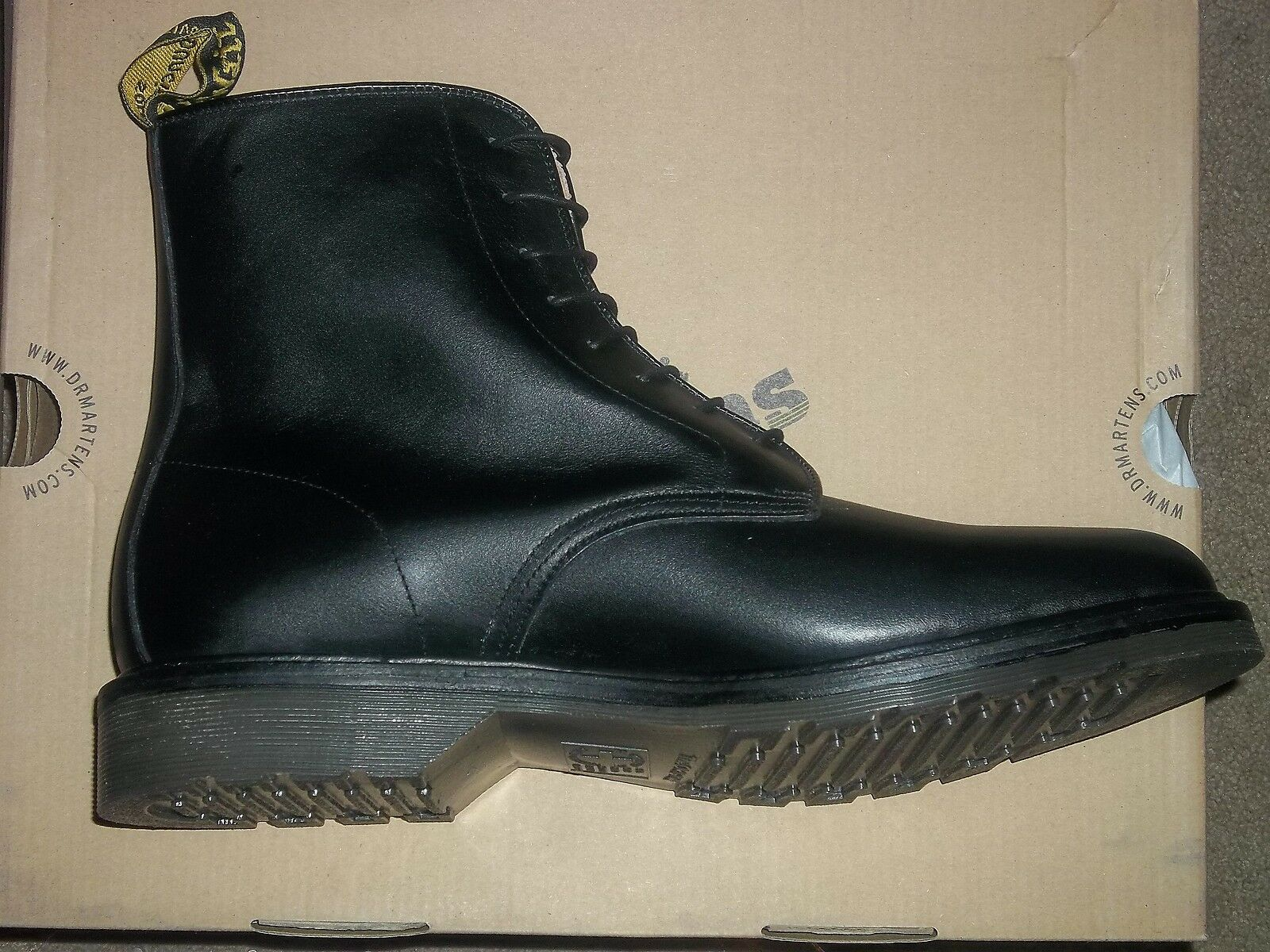 07d8a040c6c03 Dr. AirWair Martens JEFFERY Black Noir Smooth Leather Leather Leather 13  Men New 795a82