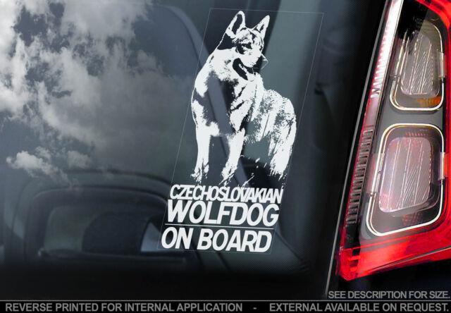 Czechoslovakian Wolfdog - Dog Car Sticker -Czech Wolf Československ Vlčák Vlčiak
