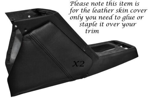 9 x19 1973-1989 Cuir noir stitch 2x coussinets genou peau couvre fits FIAT X1