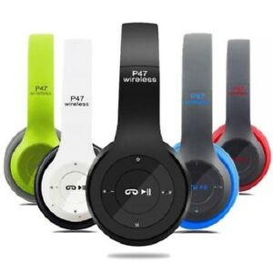 New-Foldable-Wireless-Bluetooth-Stereo-Headset-Headphones-with-Microphone