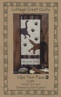 Wipe Your Paws Quilting Pattern, From Cottage Creek Quilts