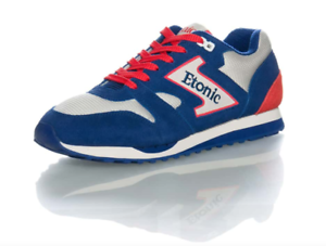 NEW ETONIC MENS TRANS AM TRAINER SUEDE RED WHITE NAVY blueeE SIZE 14 RETRO SHOE