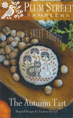 Jack/'s Sweet Shoppe Autumn Tart Plum Street Samplers Cross Stitch Pattern