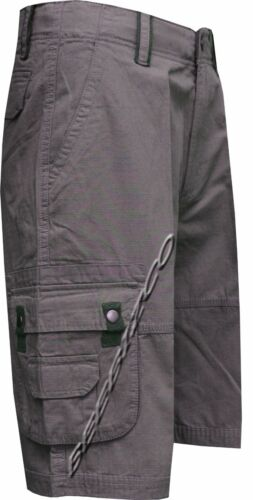 "42/"" Mens 100/% Cotton Ripstop Cargo Combat Shorts 8 Pockets Zip Fly Pants 32/"""