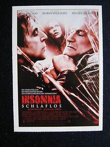Filmplakatkarte cinema Insomnia - Schlaflos Al Pacino , Robin Williams - <span itemprop=availableAtOrFrom>Herten, Deutschland</span> - Vollständige Widerrufsbelehrung Widerrufsbelehrung Widerrufsrecht Sie haben das Recht, binnen eines Monats ohne Angabe von Gründen diesen Vertrag zu widerrufen. Die Widerrufsfrist beträgt  - Herten, Deutschland